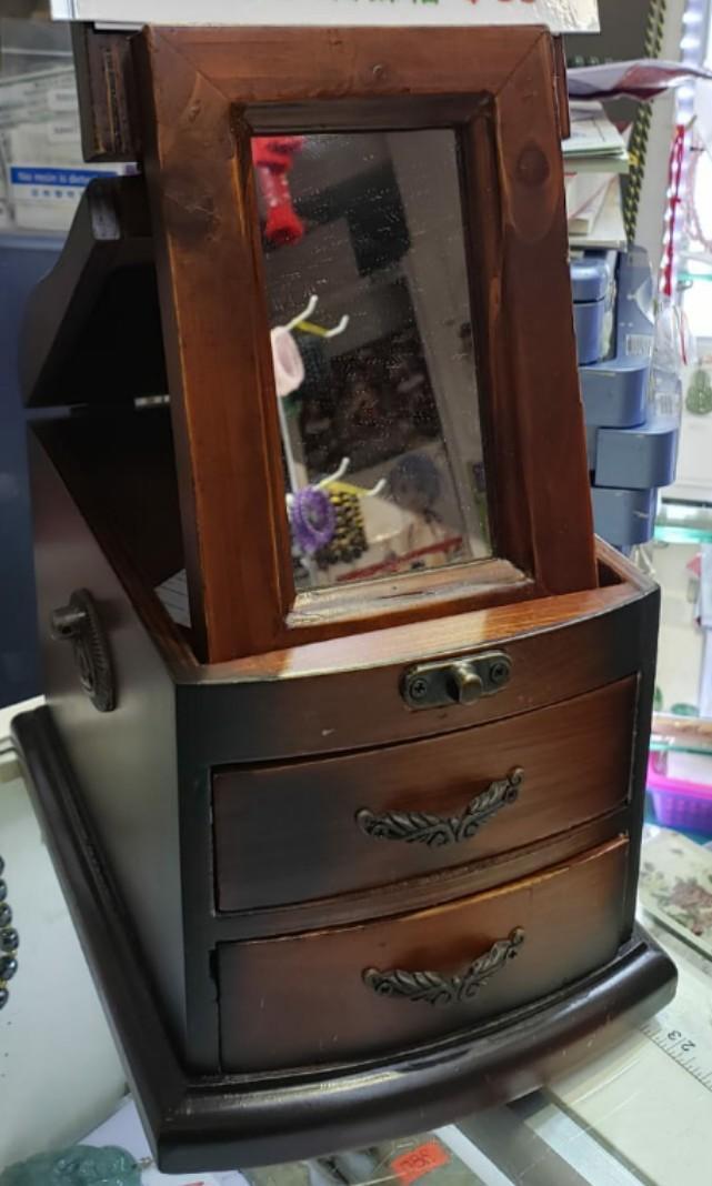 江山美人復古首飾盒