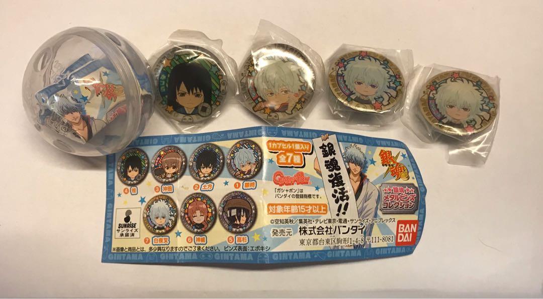 銀魂 扭蛋 pins 日本限定 絕版