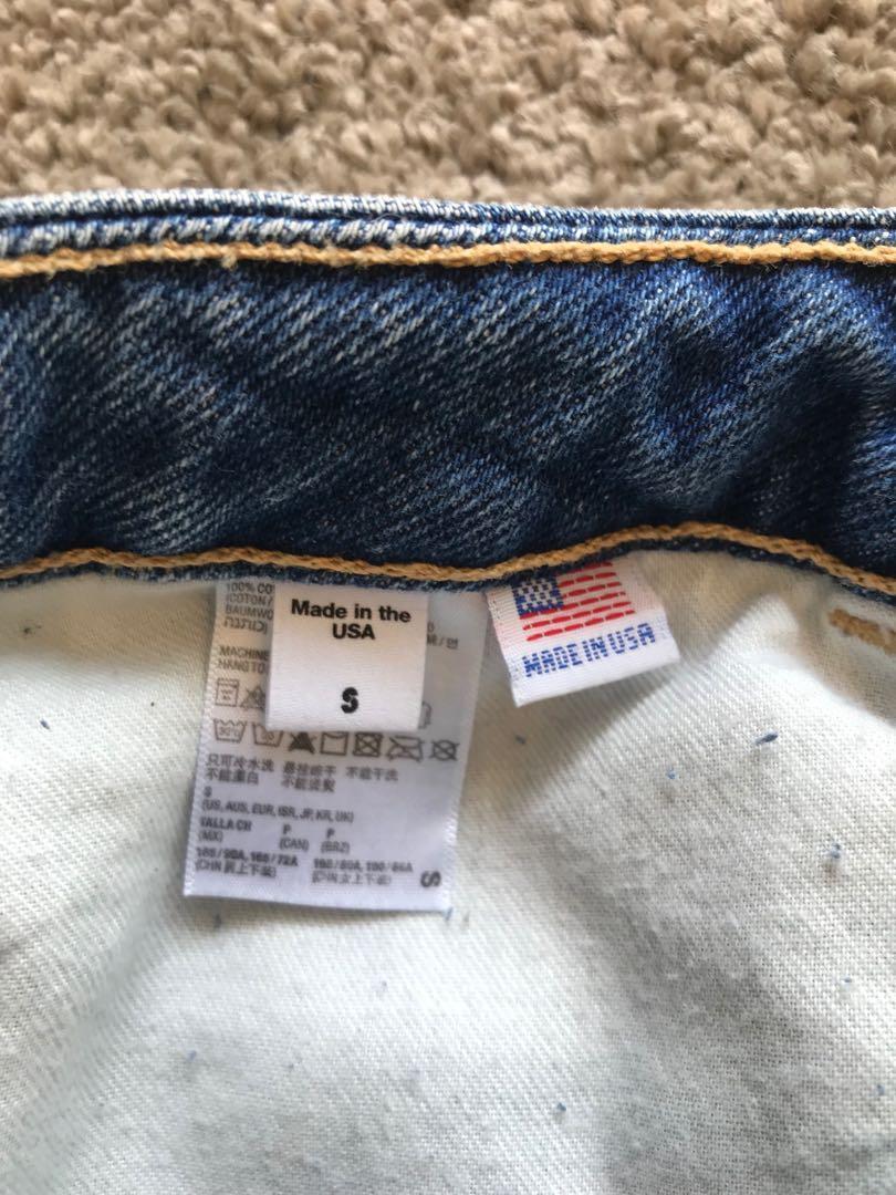 American Apparel High Waisted Denim Skirt