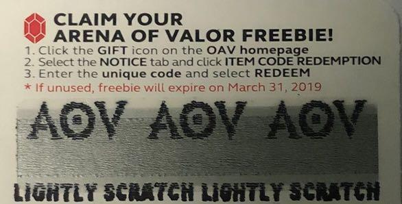 Arena of Valor AOV 150 Gems UNTIL MARCH 31 2019 ONLY, Tickets