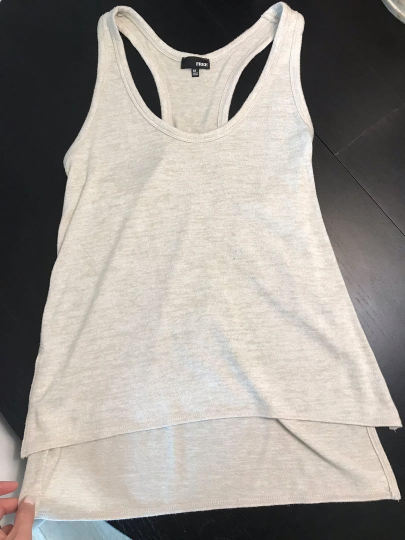 Aritzia Wilfred Tank Tops Size Small Blue and Sandy Beige
