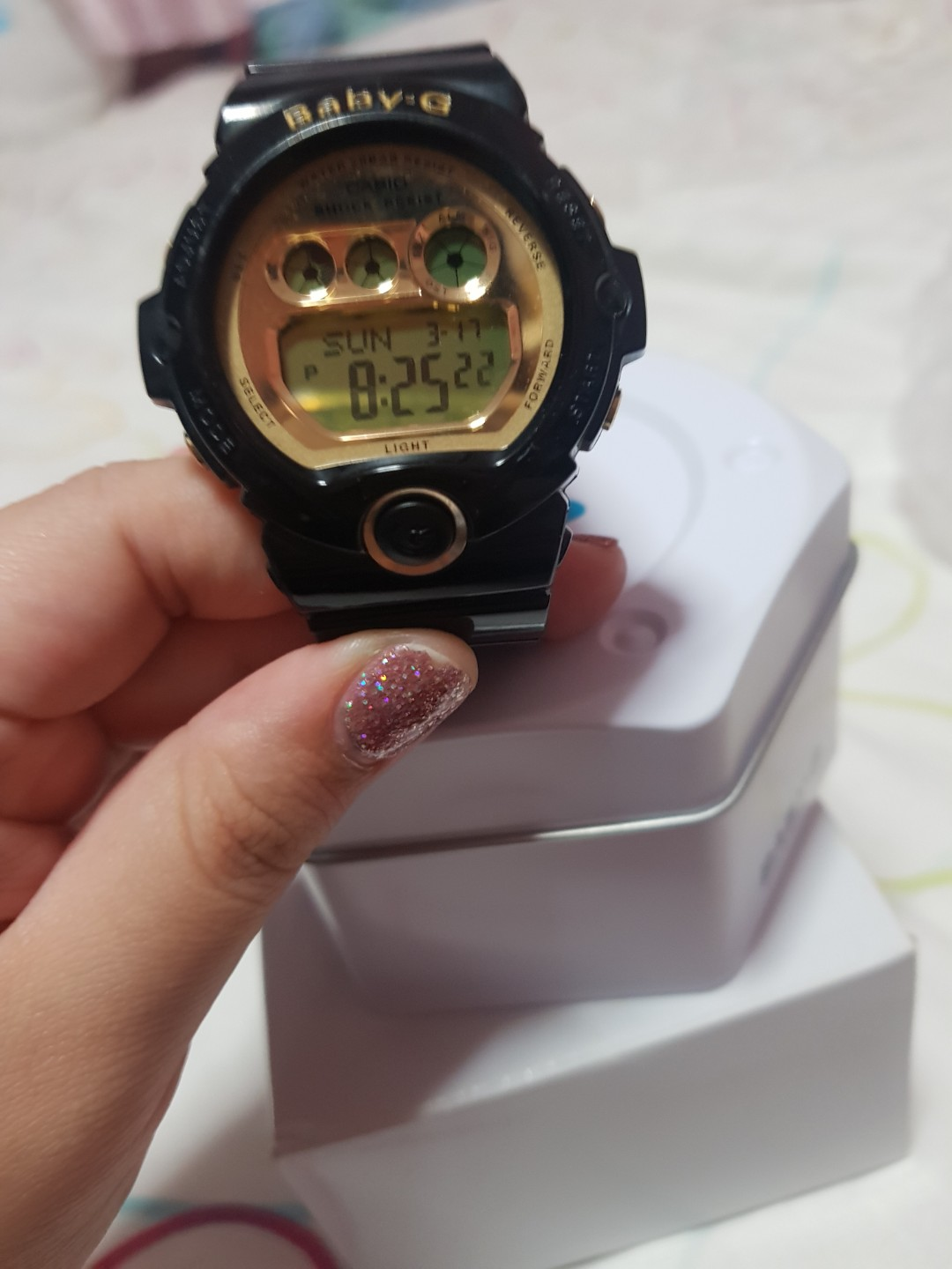 Authentic Baby G Digital Watch Classic Gold Black Series