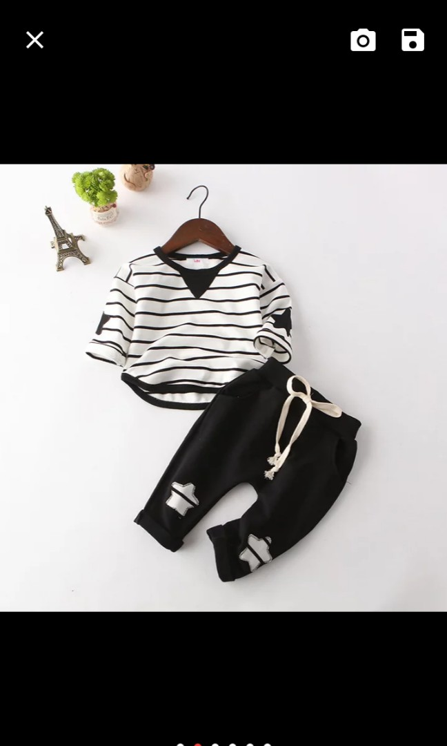 50a89378da5 Boy T-Shirt + Pant, Babies & Kids, Babies Apparel on Carousell