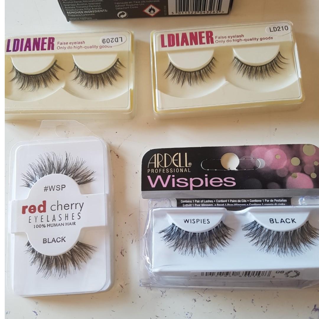 Bulk Eyelashes- Ardell, Red Cherry, Ldianer, Eylure. BNIB