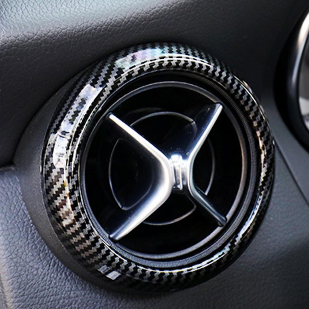 Carbon Fiber Car Air Conditioning décor Frame Air Vents Trim