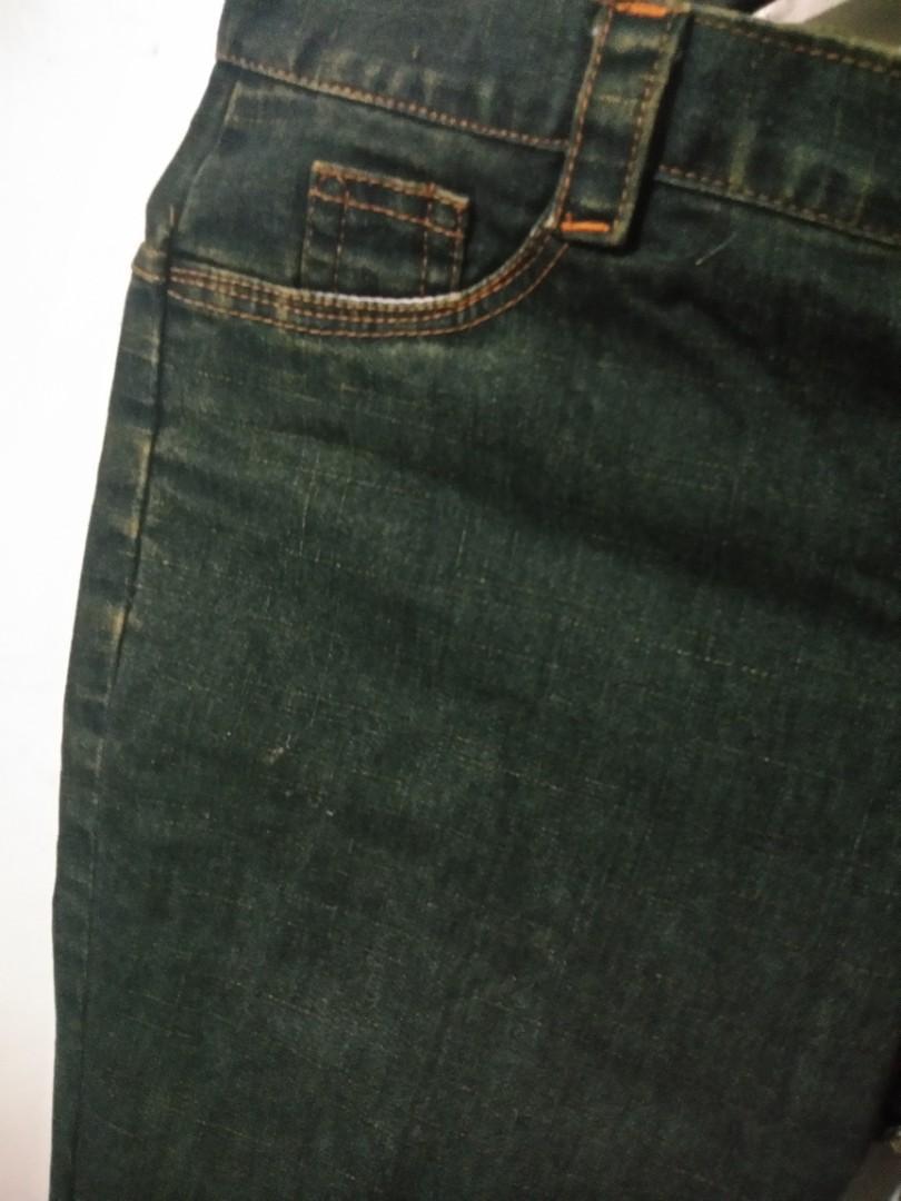 Celana Jeans Warna Ijo Army