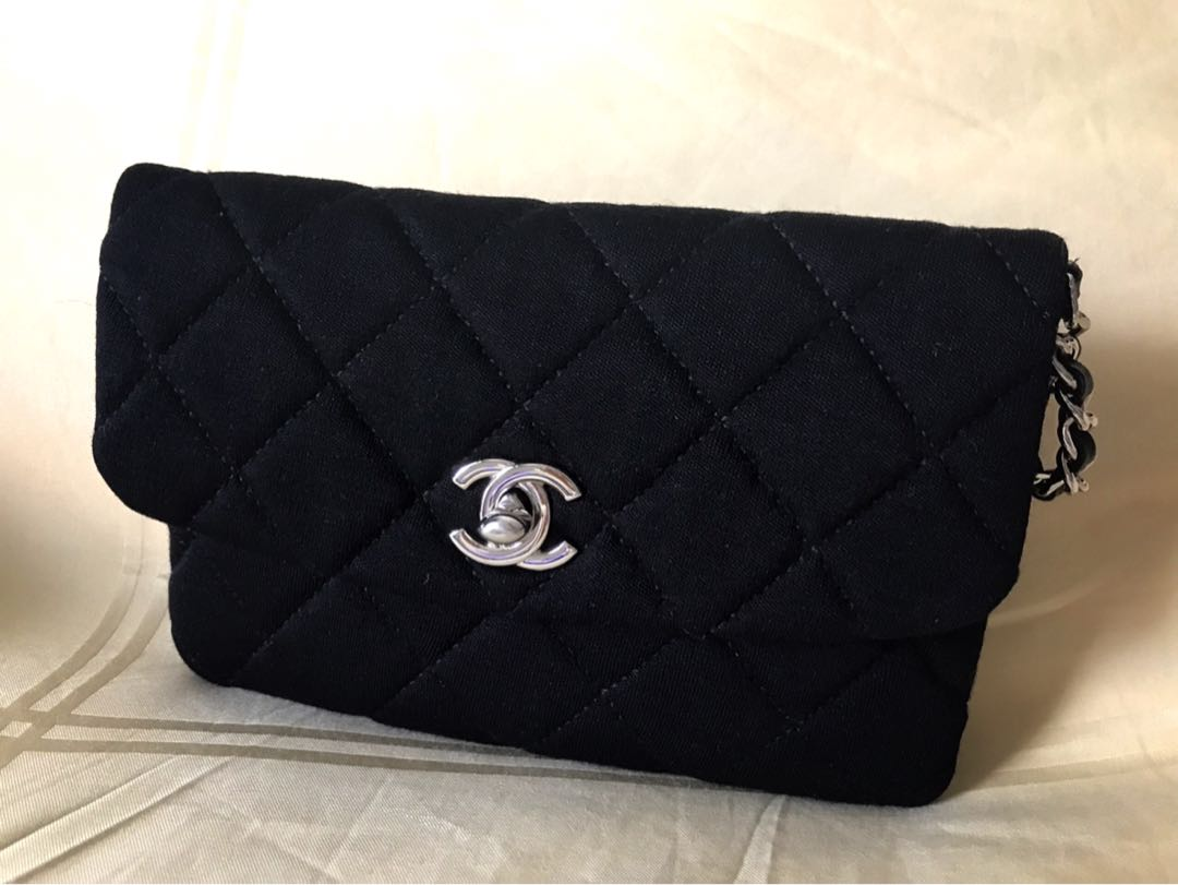 17eecf5bcda6cd Chanel Jersey WOC, Luxury, Bags & Wallets, Sling Bags on Carousell