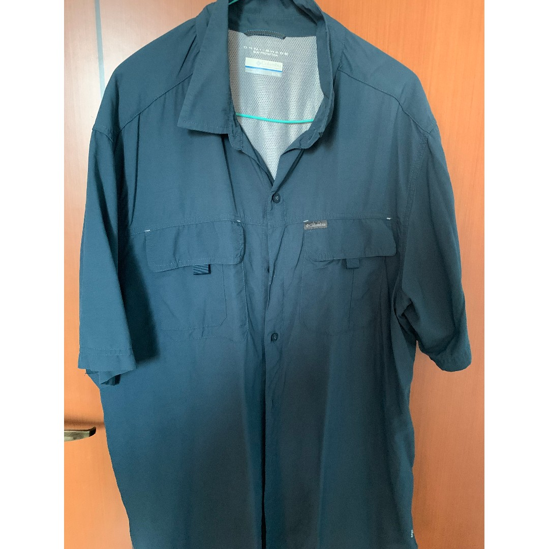 6271d0b94f1 Columbia - Blue [EM7619-160], Men's Fashion, Clothes, Tops on Carousell