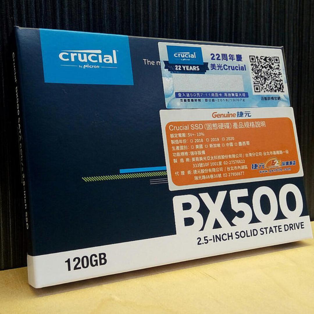 "Crucial BX500 SSD internal 2.5"" SATA3 SSD (120GB)"
