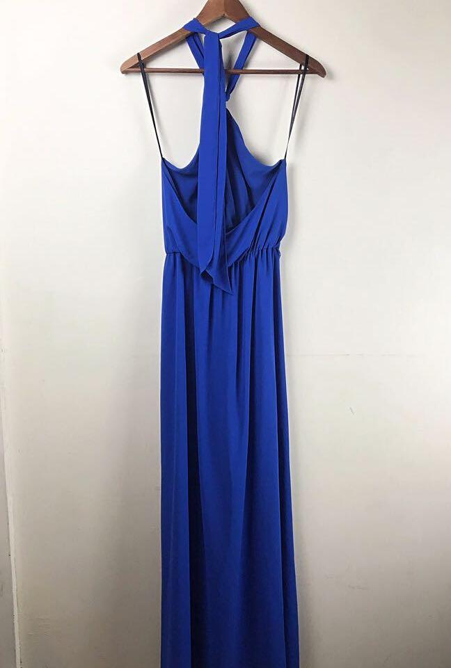 Forever New Electric blue maxi dress with side split