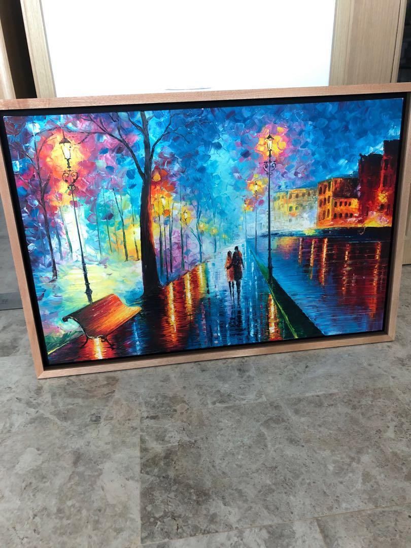 Framed Canvas Painting 67 x 97cm