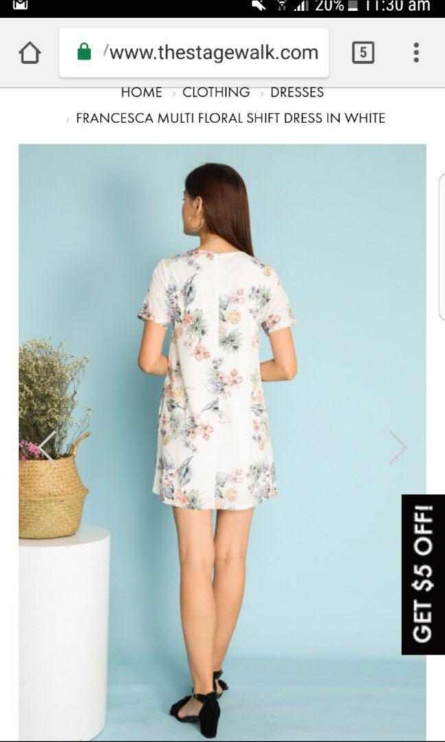 Francesca Multi Floral Shift Dress