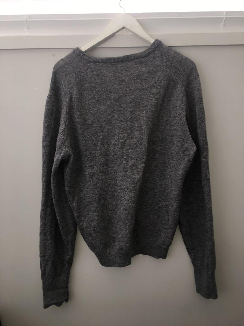 Grey winter knit