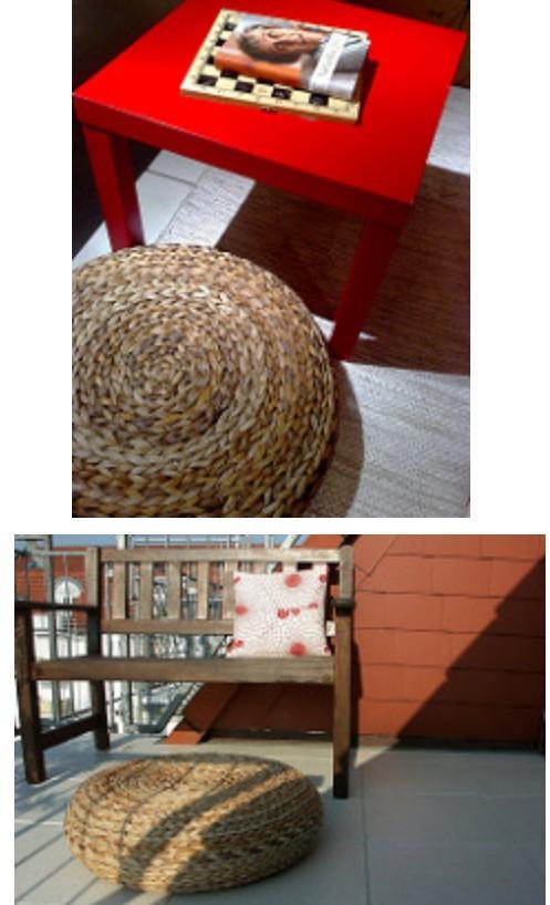 Ikea alseda藤製沙發矮凳 墊腳凳 峇里島風 (自取)