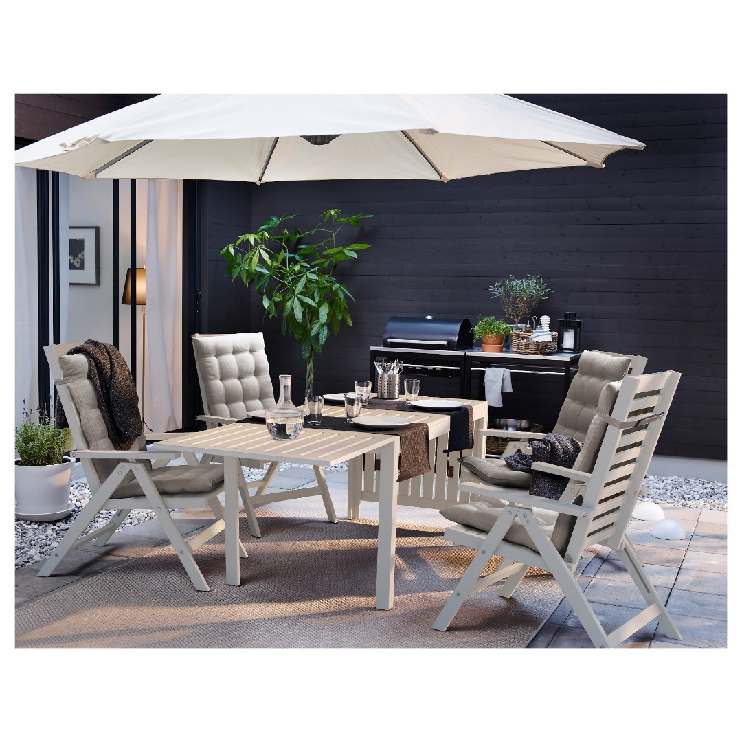 ikea applaro outdoor table and 6 chairs furniture tables. Black Bedroom Furniture Sets. Home Design Ideas