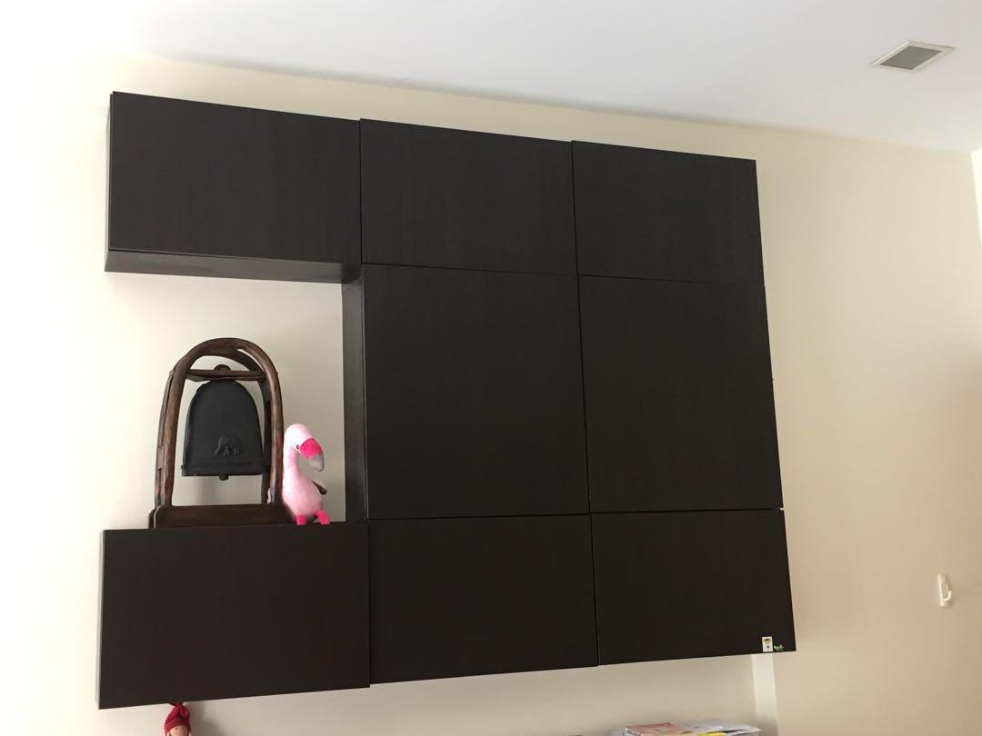 ikea besta wall cabinet furniture shelves drawers on carousell rh sg carousell com ikea besta wall cabinet hack ikea besta wall cabinet white