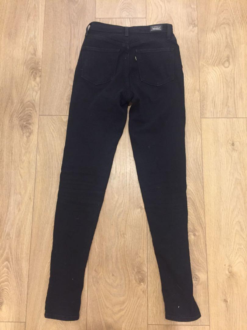 Levi black jeans size 25 high waisted