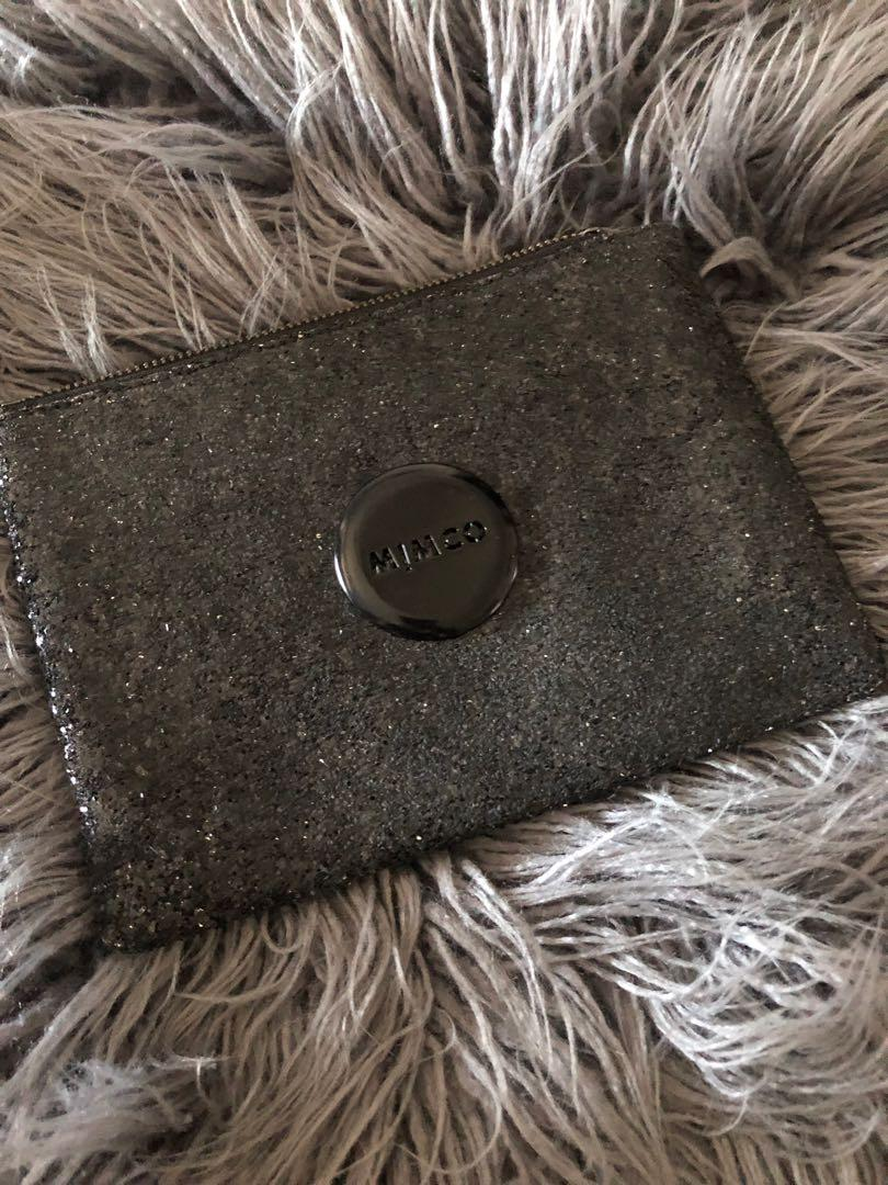 Mimco Black Sequin Large Pouch