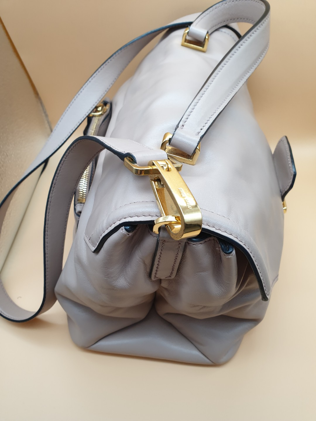 34430cf24bef Miu Miu Vitello Soft Calfskin Leather Bag