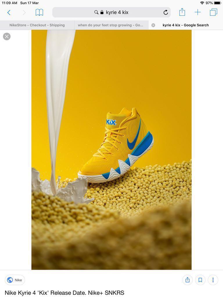 buy online 6ce3e 2de8e Nike kyrie 4 KIX US10