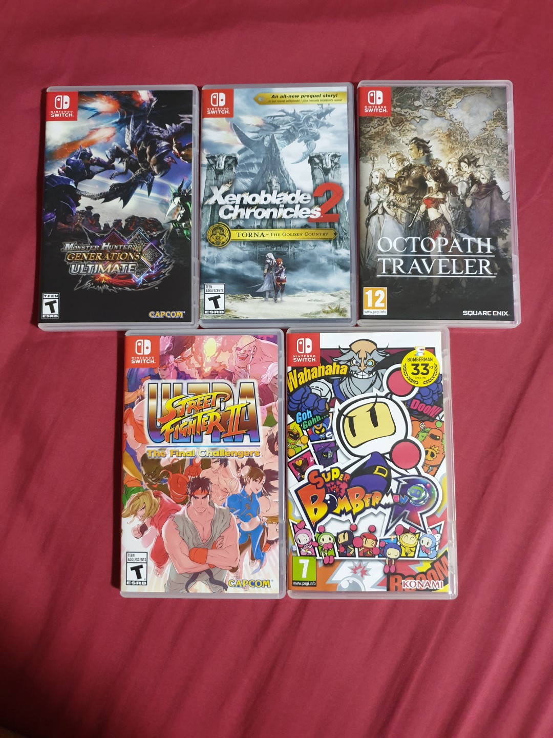Nintendo switch games/ xenoblade chronicles 2 / street fighter