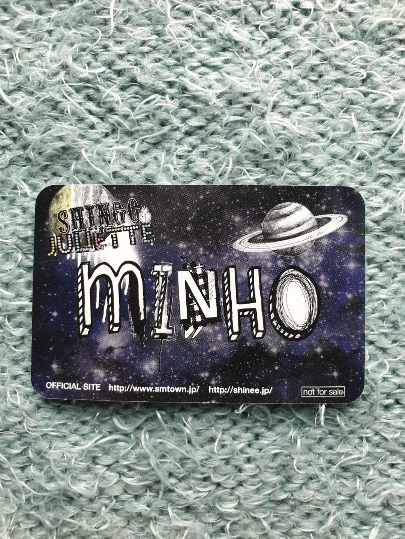 [OFFICIAL PHOTOCARD] SHINee's Minho Juliette Japanese version