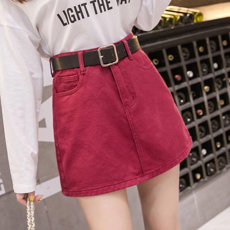 d9b4cabaa9 PO] Korea high waist skirt w belt, Women's Fashion, Clothes, Dresses ...