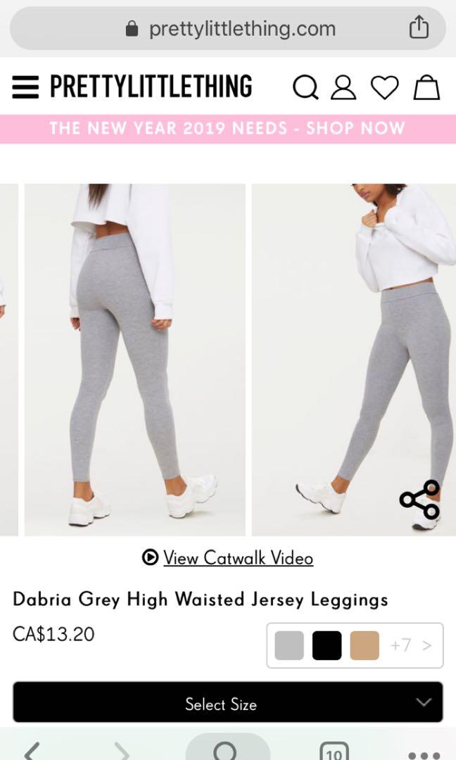 PRETTYLITTLETHING Dabria High Waisted Jersey Leggings