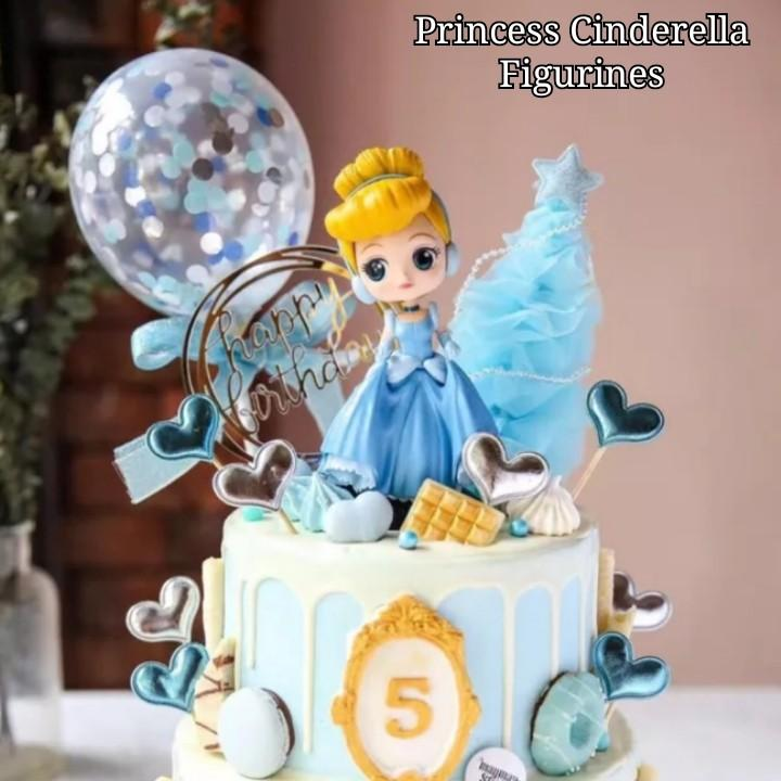 Amazing Princess Cinderella Figurines Cake Topper Toys Games Bricks Funny Birthday Cards Online Overcheapnameinfo