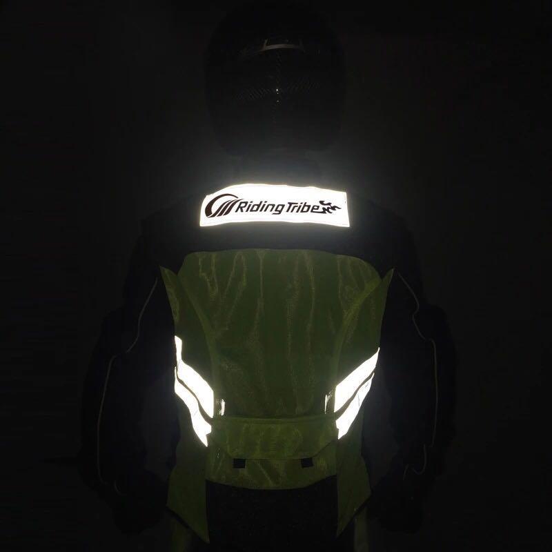 Riding Tribe摩托车骑行反光背心安全马甲男女夏四季可印字机车服
