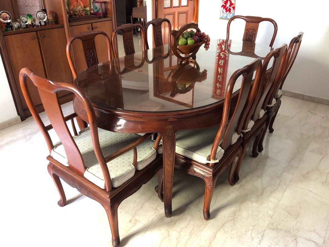 Rosewood dining table 8 seater