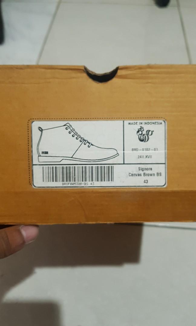 Sepatu Boots Brodo Canvas Signore Brown Mulus