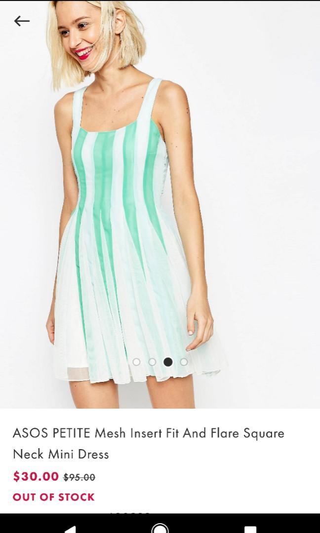 Square Neck Mesh Dress