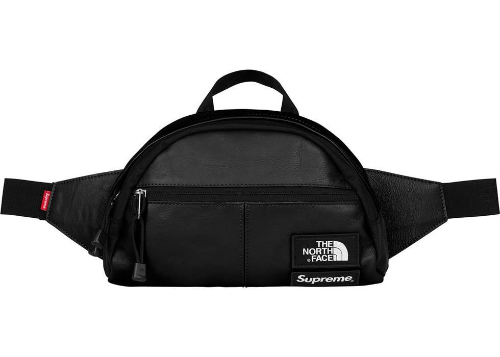 46b5b2a994 Supreme x The North Face Leather Roo II Lumbar Pack Black Fanny ...