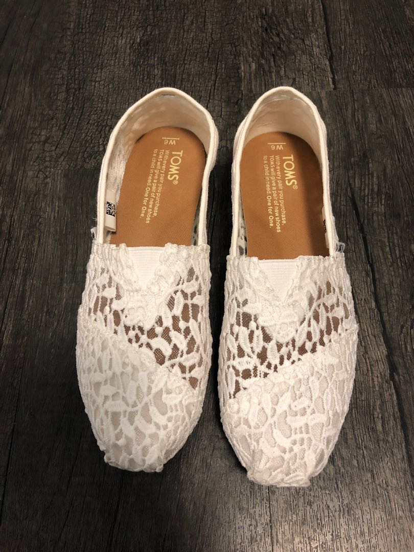 a6366f37 Toms Classic White Lace Leaves, Women's Fashion, Women's Shoes on ...