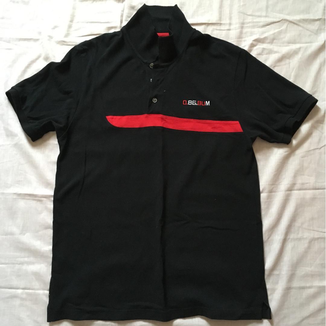 1d8c99bff9ed T-shirt collar black BUM Basic L