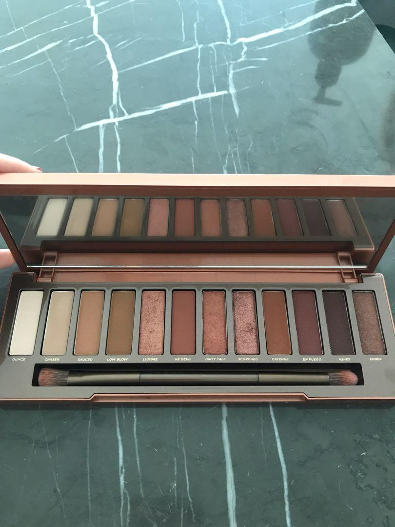 Urban Decay UD Naked Heat and Limited Edition Backtalk Eyeshadow and blush palette