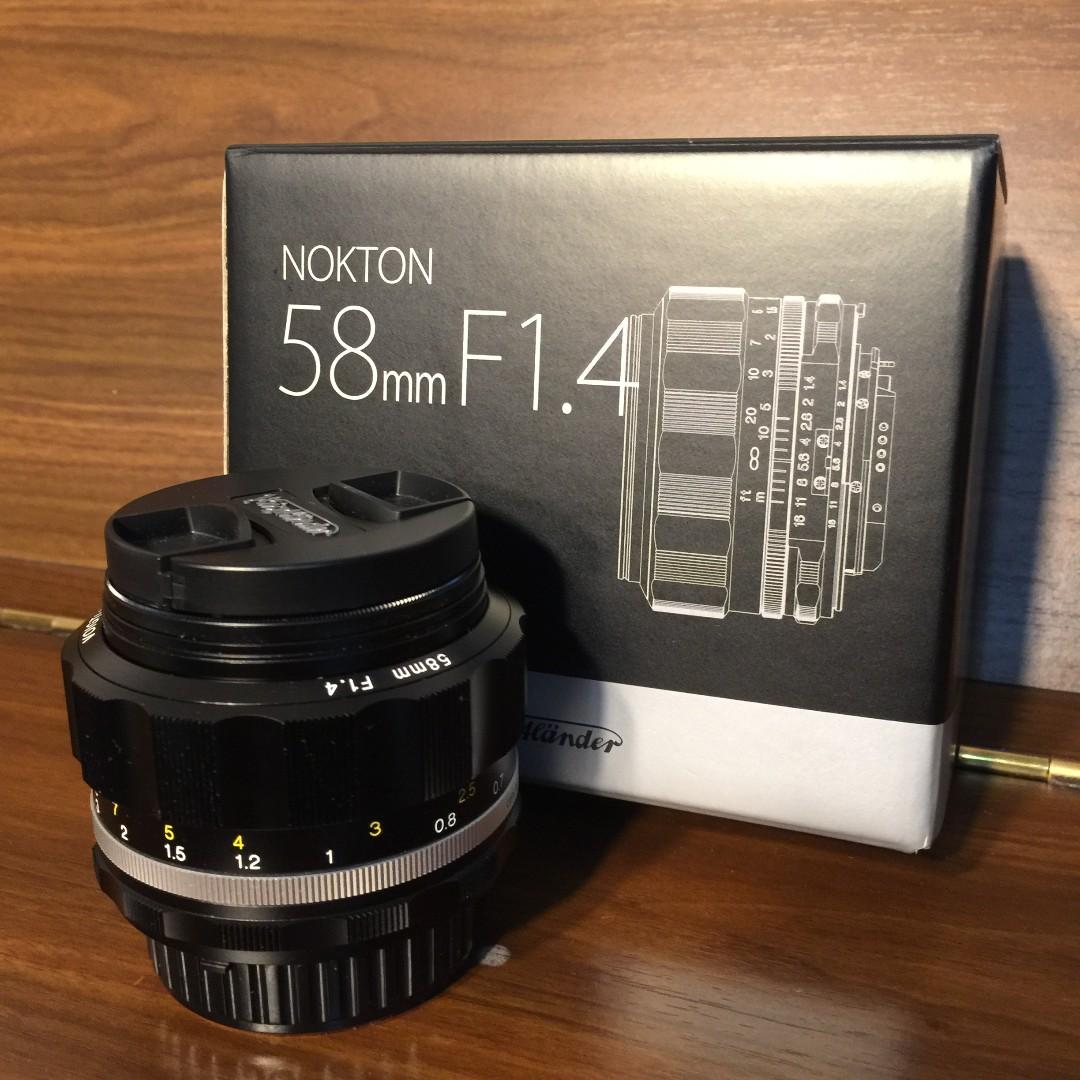 Voigtlander Nokton 58mm f/1 4 SL II S Lens (Silver) NIKON Mount