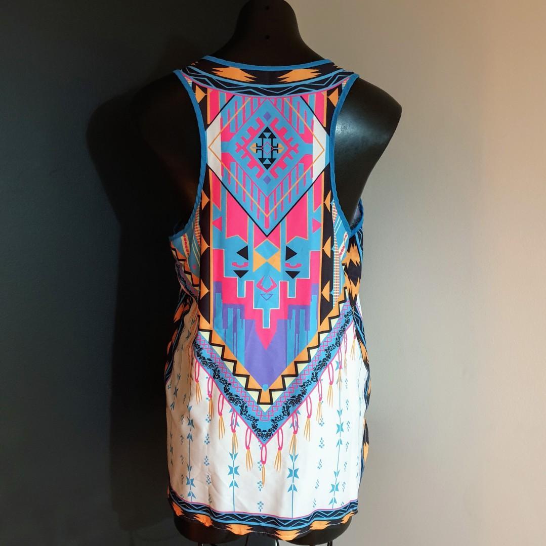 Women's size L 'HALE BOB FOR ROCKMANS' Gorgeous multicolored vibrant top -AS NEW