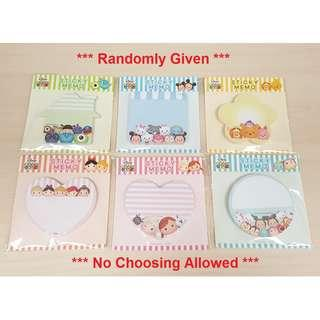 [Random Design @ 25% OFF] Disney Tsum Tsum Sticky Memo Writting Note Pad