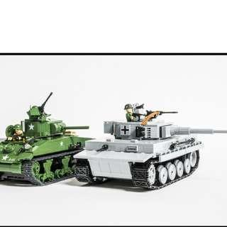 Bundle Sale ! Cobi Tiger & Sherman Tanks (New) !