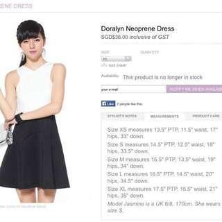 Love Bonito Doralyn dress size xs