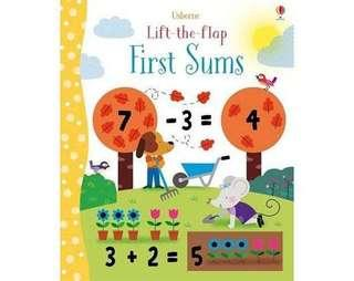 🚚 Lift-The-Flap First Sums 翻翻學習書:加總 精裝本