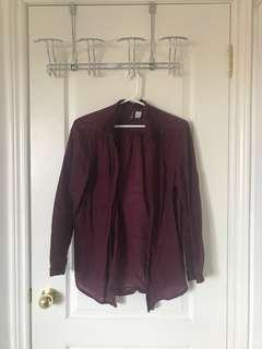 Maroon H&M Blouse