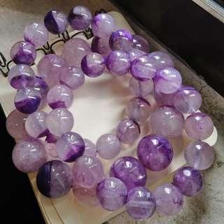 罕有玉化紫龍晶手串