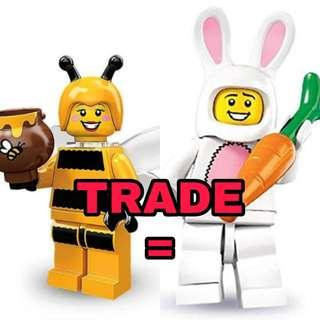 WTT Lego -  My sealed Bumblebee Girl for your sealed Bunny Suit Guy (non crumpled factory packaging)