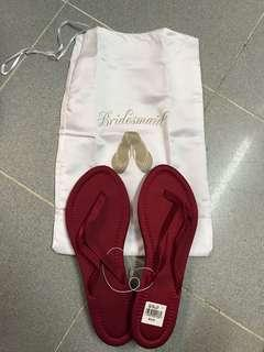 100% New Red Bridal Slippers