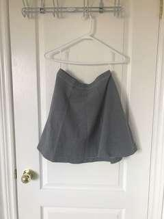 Grey Uniqlo A-Line Circle Skirt