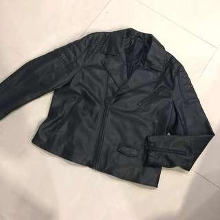🚚 H&M Faux Leather Biker Jacket