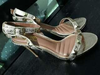 Syrup-People Are People Gold Stud Sandals